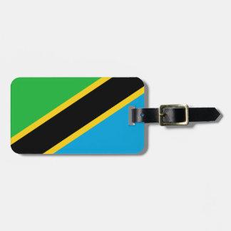 Nationale Weltflagge Tansanias Gepäckanhänger