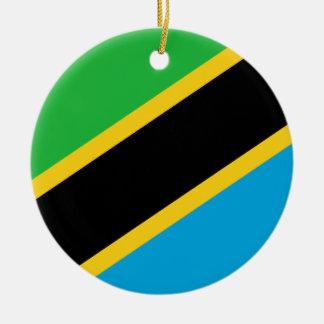 Nationale Weltflagge Tansanias Keramik Ornament