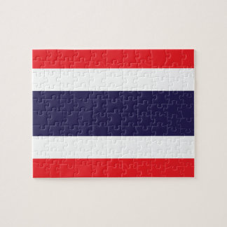 Nationale Weltflagge Thailands Puzzle