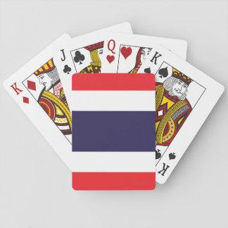 Nationale Weltflagge Thailands Spielkarten