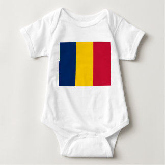 Nationale Weltflagge Tschads Baby Strampler