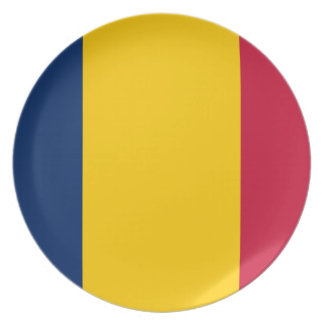 Nationale Weltflagge Tschads Melaminteller