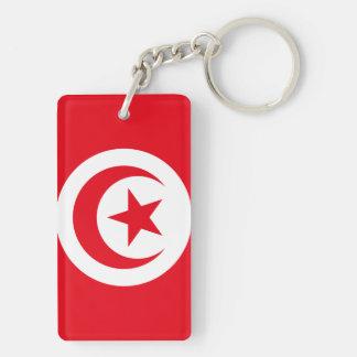 Nationale Weltflagge Tunesiens Schlüsselanhänger