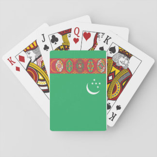 Nationale Weltflagge Turkmenistans Spielkarten