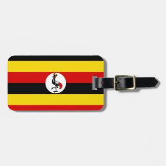 Nationale Weltflagge Ugandas Gepäckanhänger