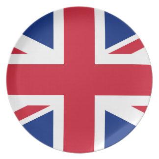 Nationale Weltflagge Vereinigten Königreichs Melaminteller