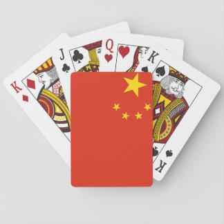 Nationale Weltflagge Volksrepublik China Spielkarten