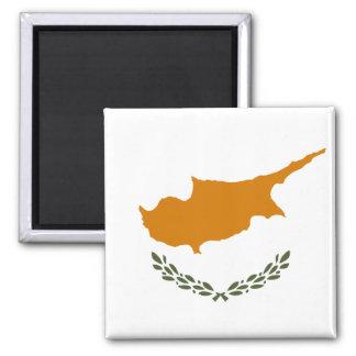 Nationale Weltflagge Zyperns Quadratischer Magnet