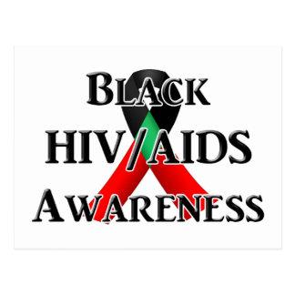 Nationaler Bewusstseins-Tag des Schwarz-HIV/AIDS Postkarte