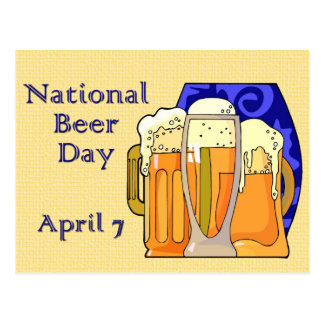 Nationaler Bier-Tag am 7. April Postkarten
