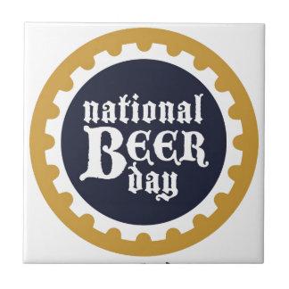 Nationaler Bier-Tag Kleine Quadratische Fliese