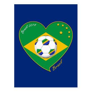 "Nationaler Brazilian football Team. Fußball ""BRAZI Postkarte"