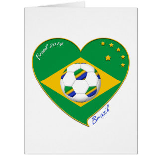 "Nationaler Brazilian football Team. Fußball ""BRAZI Riesige Grußkarte"