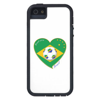 "Nationaler Brazilian football Team. Fußball ""BRAZI Tough Xtreme iPhone 5 Hülle"