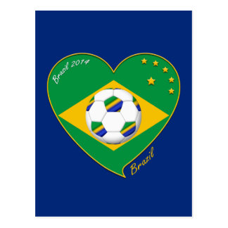 Nationaler Brazilian football Team. Fußball Postkarte