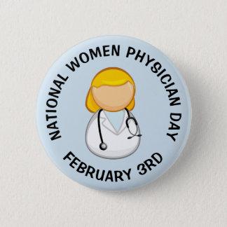 Nationaler Frauen-Arzt-Tagesam 3. Februar Knopf Runder Button 5,7 Cm