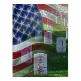 Nationaler Friedhof Arlingtons, amerikanische Postkarte