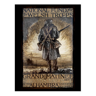 Nationaler Geldbeschaffer für Waliser-Truppen Postkarte