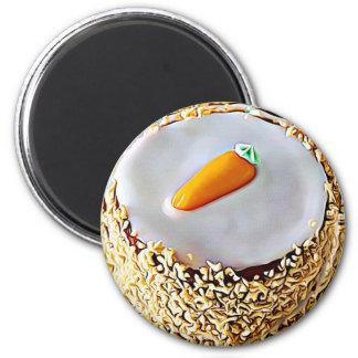 Nationaler Karottenkuchen-Tagesam 3. Februar Runder Magnet 5,1 Cm