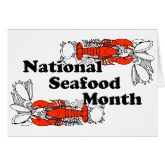 Nationaler Meeresfrüchte-Monat Karte