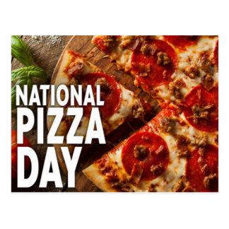 Nationaler Pizza-Tag Postkarte
