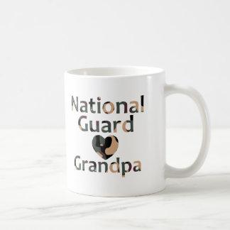Nationaler Schutz-Großvater-Herz-Camouflage Kaffeetasse