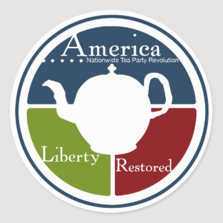Nationaler Tee-Party-Revolutionsaufkleber Runder Aufkleber