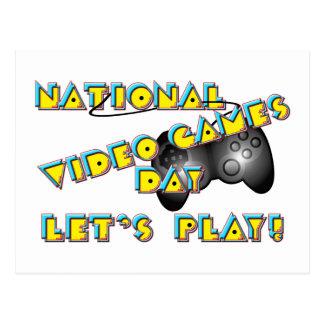 Nationaler Videospiel-Tag Postkarte