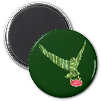 Nationaler Wassermelone-Tag Eagle Runder Magnet 5,7 Cm