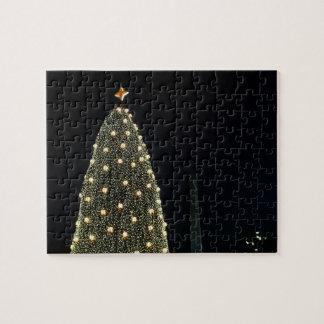 Nationaler Weihnachtsbaum u. Washington-Monument Puzzle