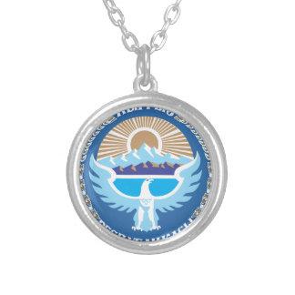 Nationales Emblem von Kirgisistan Versilberte Kette