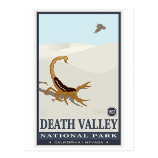 Nationales Monument 2 Death Valley Postkarte