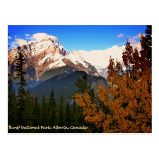 Nationalpark Banffs, Alberta, Kanada Rockies Postkarte