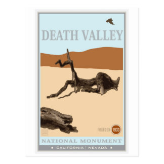 Nationalpark Death Valley 4 Postkarte