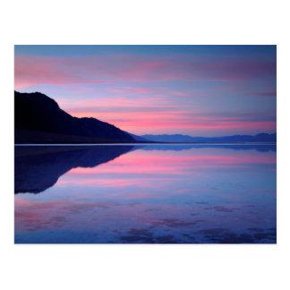 Nationalpark Death Valley. Badwater an der Postkarte