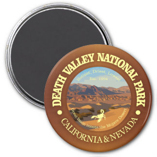 Nationalpark Death Valley Runder Magnet 7,6 Cm