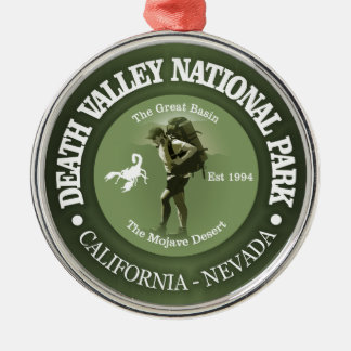 Nationalpark Death Valley Rundes Silberfarbenes Ornament