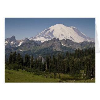 Nationalpark des Mount Rainier Notecard Karte