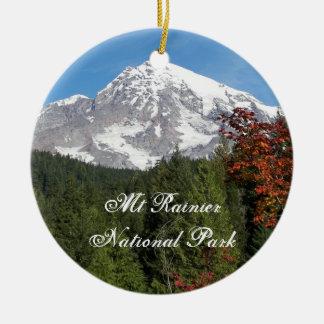 Nationalpark-Foto des Mount Rainier Keramik Ornament