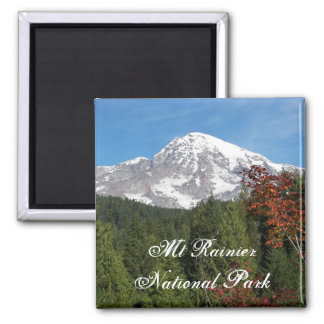 Nationalpark-Foto des Mount Rainier Quadratischer Magnet