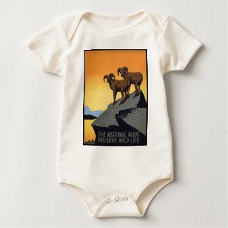 Nationalpark-Konserven-wildes Leben Baby Strampler