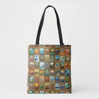 Nationalpark-Muster Tasche