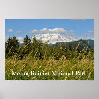 Nationalpark-Plakat des Mount Rainier Poster