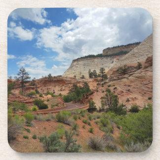 Nationalpark Utah Schachbrett-MESAs Zion Getränkeuntersetzer