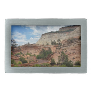 Nationalpark Utah Schachbrett-MESAs Zion Rechteckige Gürtelschnalle