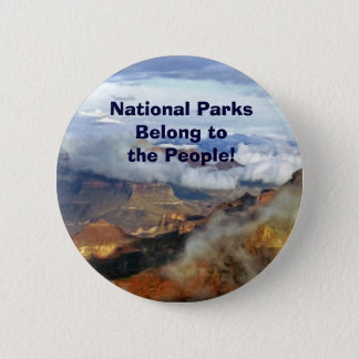 Nationalparks gehören dem Leute-Knopf, Button