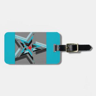 Nationalstandard-Streifen der blauen Sterne Gepäck Anhänger
