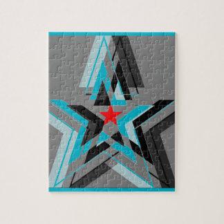 Nationalstandard-Streifen der blauen Sterne Jigsaw Puzzles