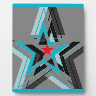 Nationalstandard-Streifen der blauen Sterne Schautafeln
