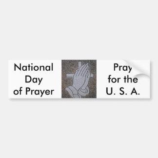 Nationaltag des Gebets Autoaufkleber